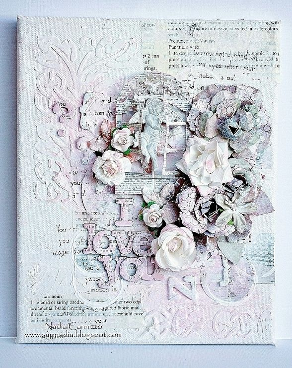 Nadia Cannizzo, Donna Salazar Designs GDT May 2013, altered canvas http://samnadia.blogspot.com.au/2013/05/my-first-post-as-donna-salazars-may.html