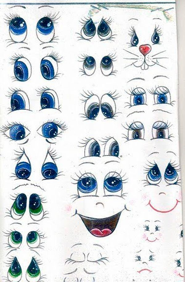 13 schemes of drawing the eye and the eye