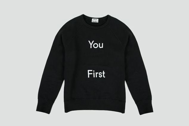 Acne College Slogan Sweatshirt.