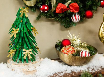 Easy to make and festive DIY Clothespin Christmas Tree by Meredith Sinclaire! Tune in to Home & Family weekdays at 10a/9c on Hallmark Channel!