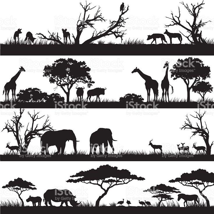 safari africano modelli illustrazione royalty-free