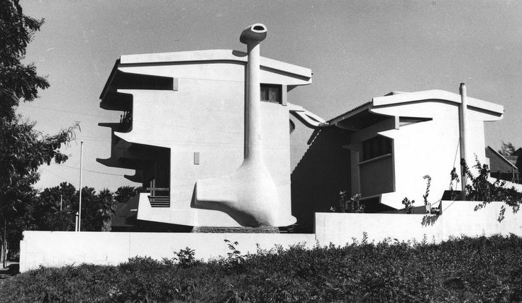 Twin Houses, by Pancho Guedes, Mozambique, 1955