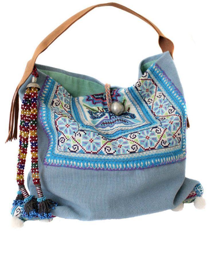 *♥* boho blue bag