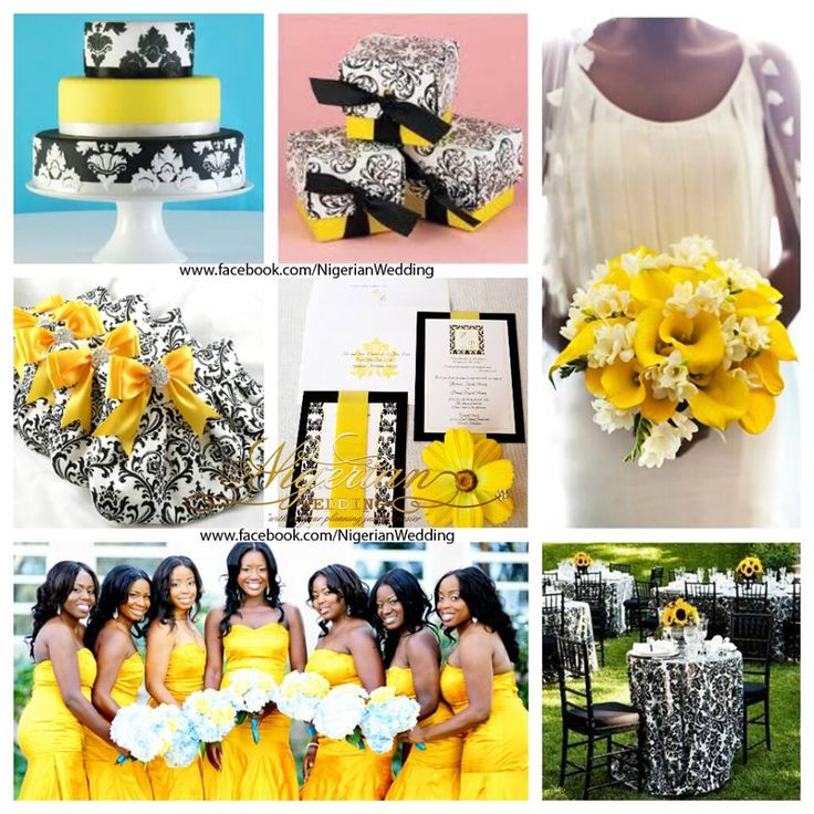 Wedding White Theme: 13 Best Images About Yellow And Black Wedding Theme Ideas