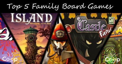 top 5 cooperative board games for families