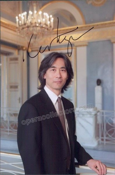 American conductor and opera admisnitrator (b. 1951), currently music director of the Orch. Symphonique de Montreal and the Bavarian State Opera. Signed photo, 4 x 6 inches