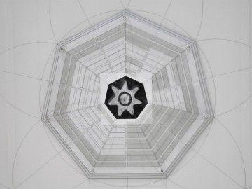 Michele Guido, Studio per Tempio di Venere da Hypnerotomachia Poliphili 2011/2013 print on backligth, b/w on Ilford paper, plexiglas, laser, forex, wood, chalk. cm 260 x 260 x 7 _ed 1 + 1 ap