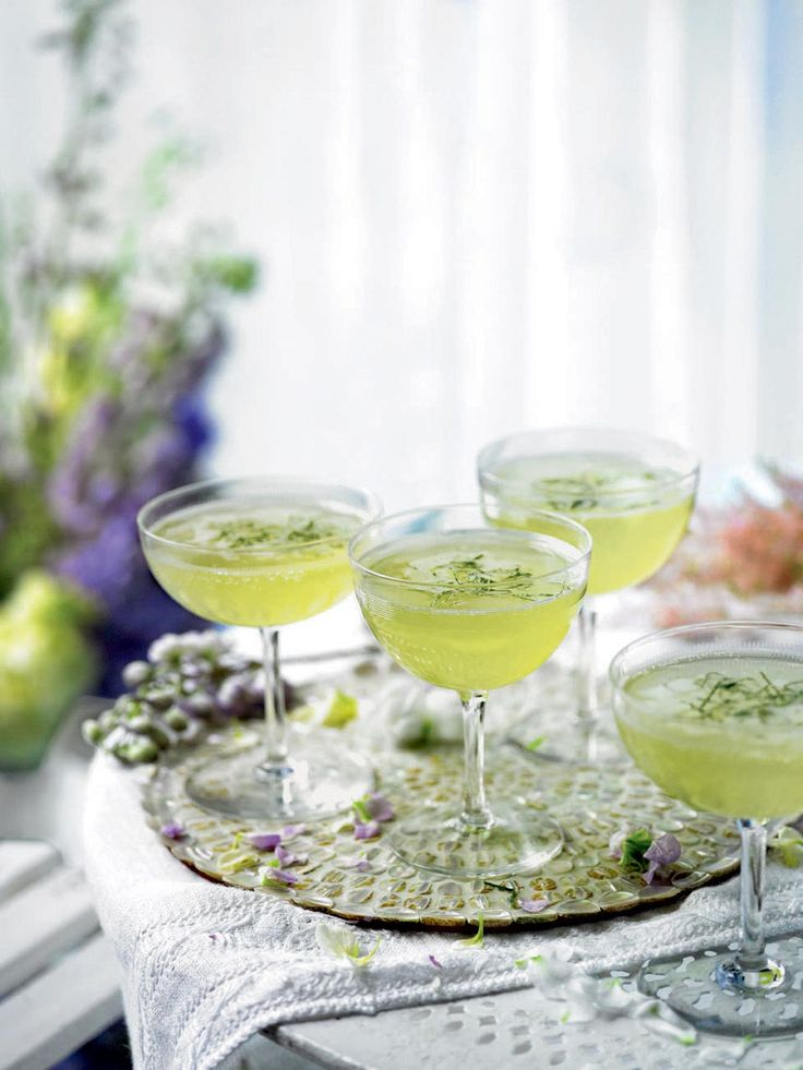 This delicate chamapagne cocktail recipe makes for a refreshing start to any party.