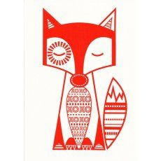Finn McTrickster Red-Orange Craft Panel Finn McTrickster is a cheeky fox hand screen printed in Australia by the talented duo cat  vee Finn McTrickster is adorable framed or sewn into cushions quilts kids aprons bags purses ipad covers or soft toys Please Click the image for more information.