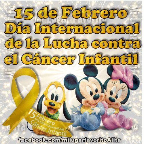 15 de Febrero Día Internacional de la Lucha por el Cáncer Infantil