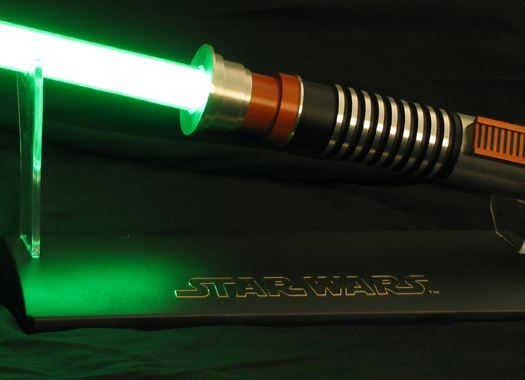 If you are looking for a good quality replica, then you should probably check out the Force FX lightsabers.  The Force FX range was created originally by Master Replicas but  are now manufactured by Hasbro.
