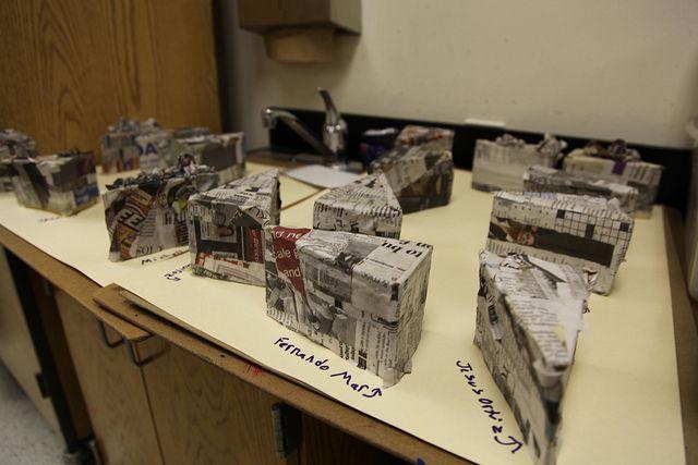 paper mache cake slices - Thiebaud