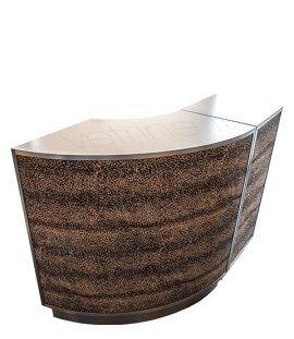 OFFERTA: BANCO CURVO laminato argento con rivestimento frontale in tessuto maculato, cm120x60 h.90 a soli € 1200.00+i.v.a. http://tuttopernegozi.com/prodotto/banco-cassa-curvo-0732/