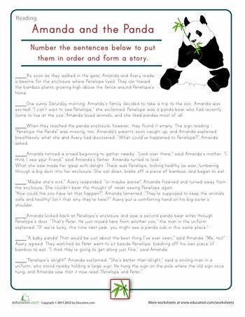 Sort The Story Amanda The Panda Education Pinterest