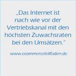 Das Internet ist nach wie vor der Vertriebskanal mit den höchsten Zuwachsraten bei den Umsätzen.