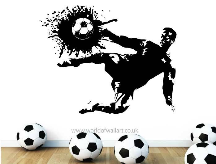 World Of Wall Art - Football Striker Silhouette Wall sticker, £9.99 (http://www.worldofwallart.co.uk/football-striker-silhouette-wall-sticker/)