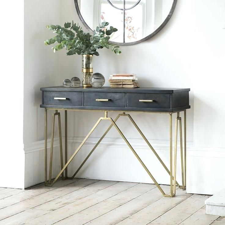 Narrow Hall Table Best Small Console Tables Ideas On Hall Regarding Narrow Table With Drawers D Small Console Tables Entrance Table Decor Console Table Hallway