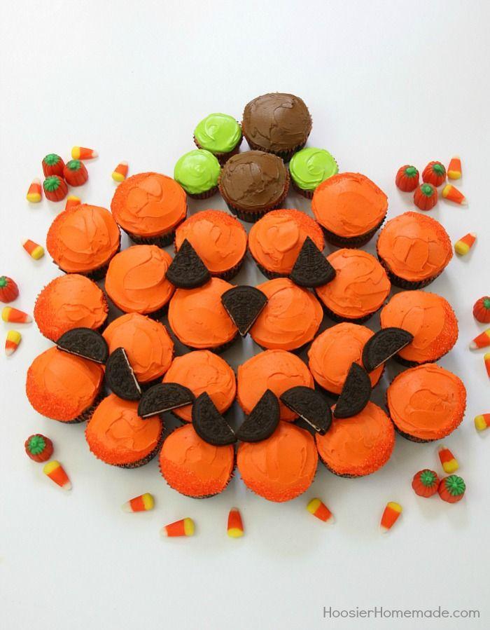 Halloween Pull Apart Cupcakes Recipe Pumpkins