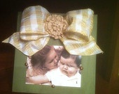 picture frame with a bow!