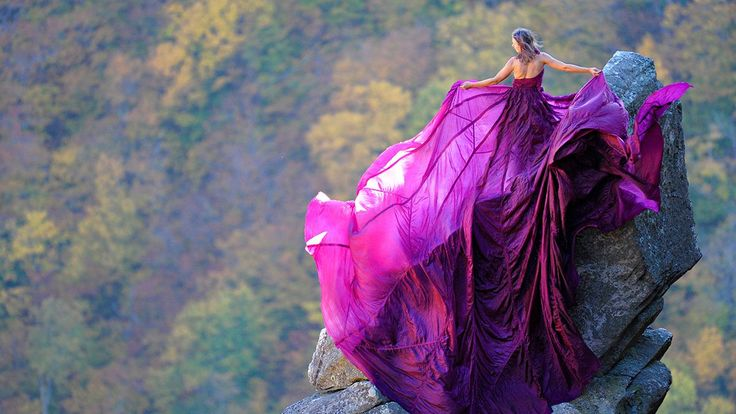 This wasn't Jay Philbrick's first time photographing a model on a mountainside wearing this purple parachute dress. But the Eaglet spire in Franconia, New Hampshire, was the trickiest location yet.For this session, Philbrick needed a model
