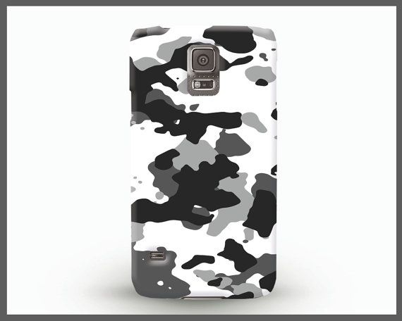 White and Black Samsung case, BW camouflage Samsung Galaxy 6 cover, Neutral camouflage Galaxy 4 case, trendy phone case, bright accessories