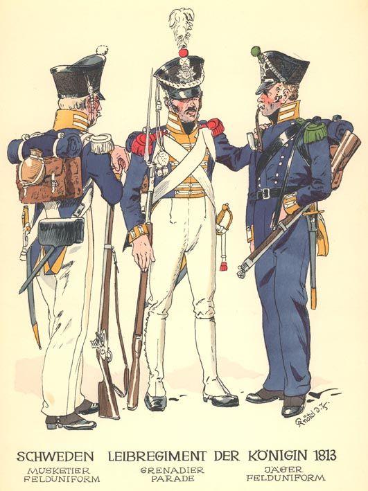 Swedish Guard Infantry, 1813