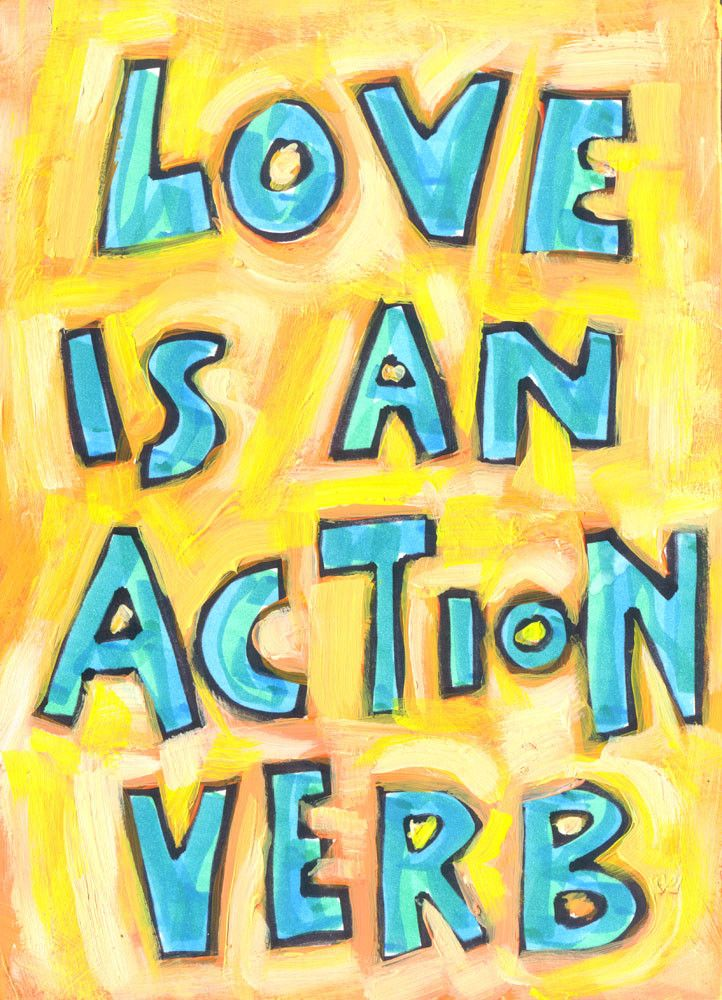 love is an action verb