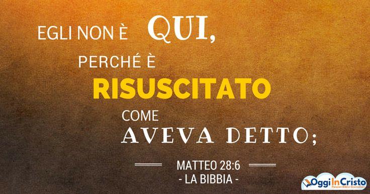 Matteo 27:62-64; 28:1-4 11-15 La verità sul caso Gesù Oggi in Cristo