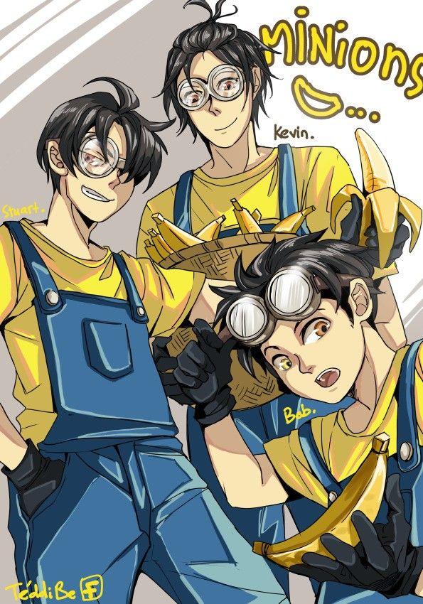 "Do You Want A Banana : banana, Bello!, BANANA?"", Human, Version, Beloved, Minions, Anime, Version,, People"