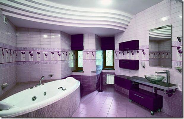 Luxurious Violet and Purple Bathroom Interior Design