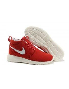 Wide Selection Nike Roshe Run Mid Womens Sport Red White