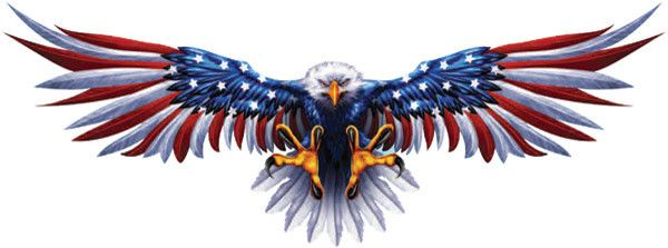 Bald Eagle American Flag Eagle Wings Decals With Twitter