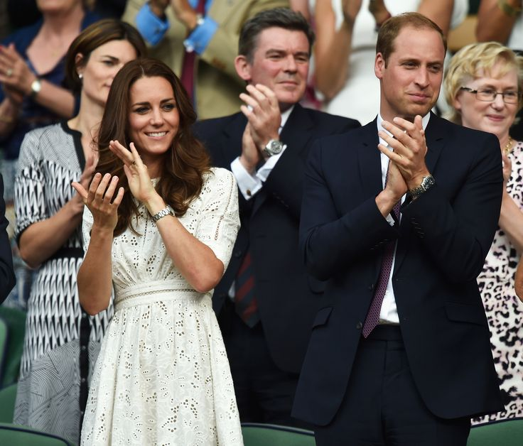 Kate and William attend Andy Murray's Wimbledon match, the Duchess re-wearing our favorite look from the Royal Tour: a white Zimmermann dress. via @stylelist