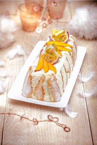 noel chic recettes buche facon tiramisu fruits exotiques christmas recipes