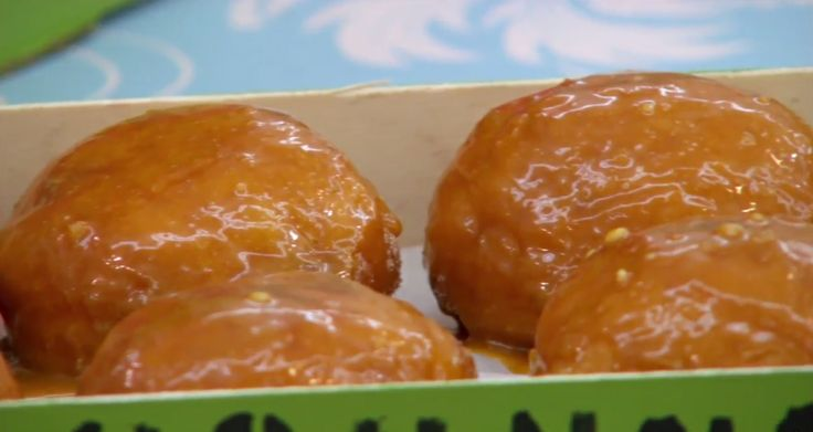 Bake Richard's toffee apple doughnuts recipe that appeared in the Advanced Dough episode of The Great British Baking Show airing on PBS.