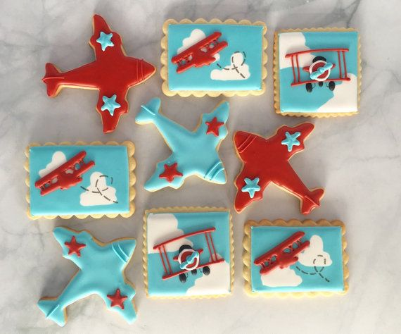 Vintage Airplane Sugar Cookie Collection by NotBettyCookies