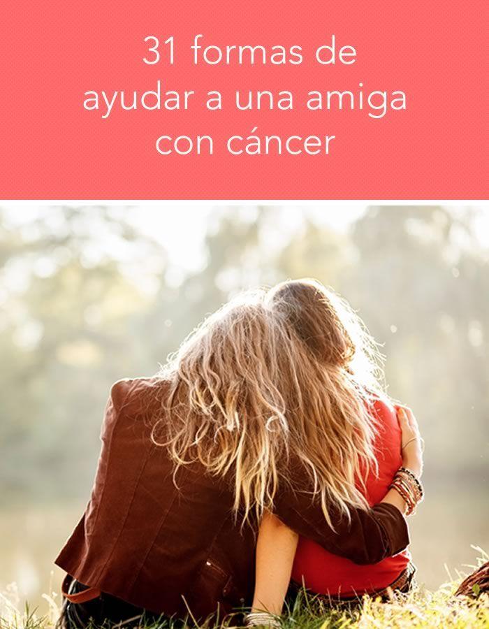 Formas de ayudar a una amiga con cáncer