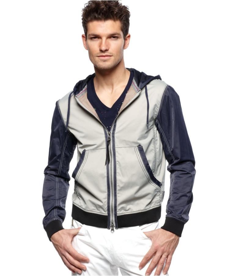 Armani Jeans Jacket, Full Zip Jacket with Hood