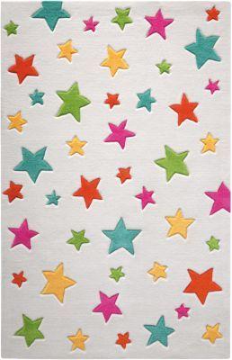 #Unisex #Teppich #Simple #Stars, #beige #bunt   #150 #x 220 Die kunterbunten, großen und kleinen Sternchen auf diesem bezaubernden Kinderteppich wirken durch die von Hand geschnittenen Kanten besonders plastisch. Ein tolles Kinderzimmer-Accessoire, das eine gemütliche Atmosphäre zaubert. Handtuft aus 100% pflegeleichtem Acryl. Für Allergiker geeignet. Florhöhe: 10 mm Material: Nutzschicht: 100% Polyacryl Unterseite: 50% Polyester und 50% Jute Gütesiegel TEXTILES VERTRAUEN…