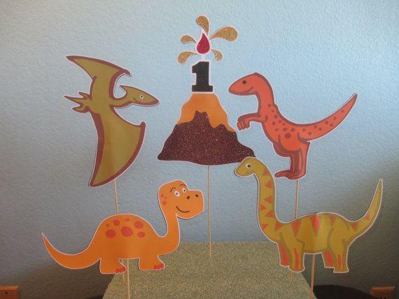 Bolsas de regalo centros de mesa 5 Dino por BehindTheTheme en Etsy