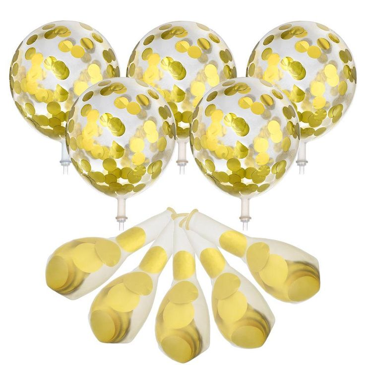 10pcs Gold/Silver Confetti Helium Balloons  #New #Discount #Hot #Buy #Sale #Trend