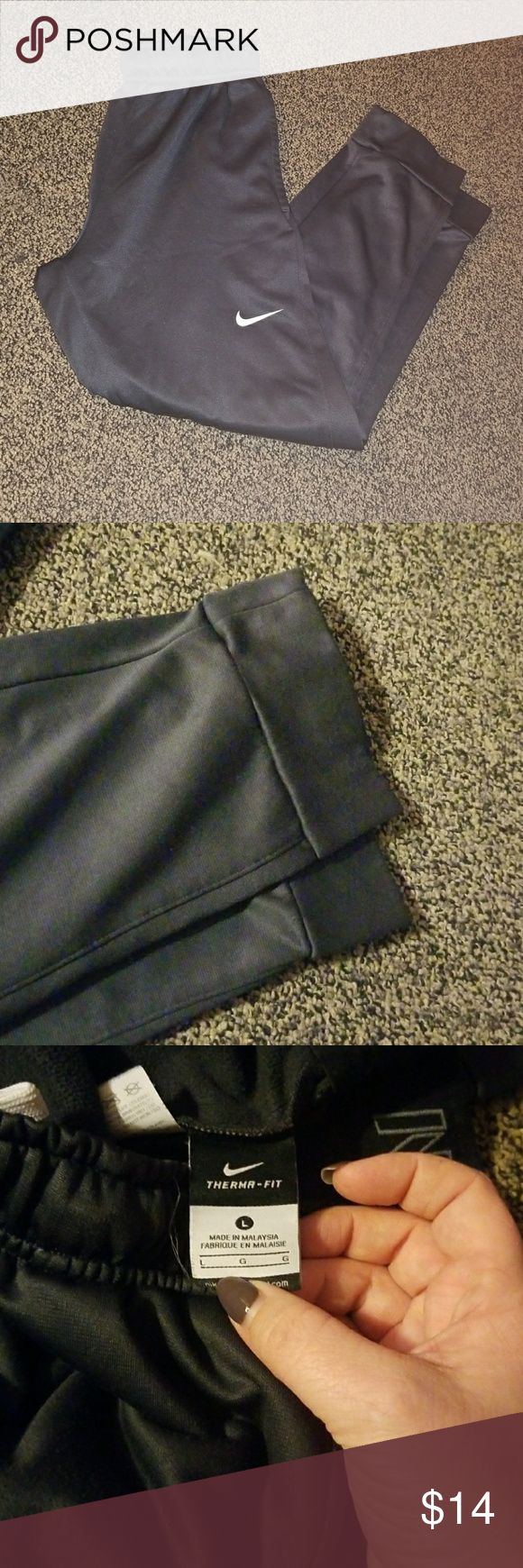 Nike joggers. Great condition!  Charcoal grey.  Boys size Large. Nike Bottoms Sweatpants & Joggers