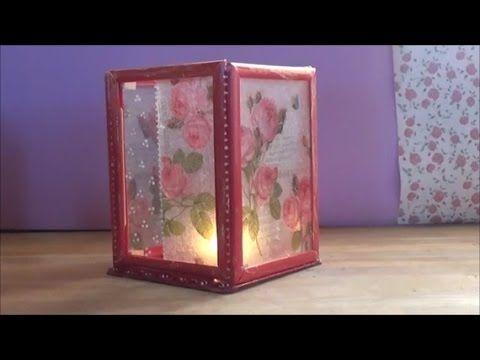 DIY photo frame lantern (lantern 2)/Φανάρι από κορνίζες (φαναράκι 2)