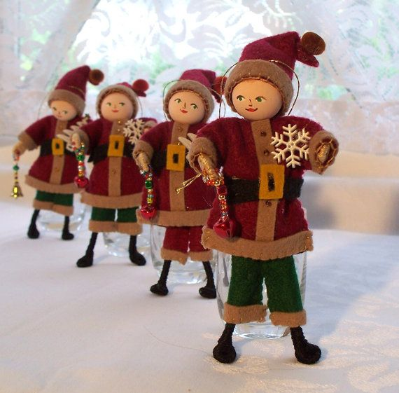 Christmas Hanging Ornament  St Nick Holiday by WhisperingOak