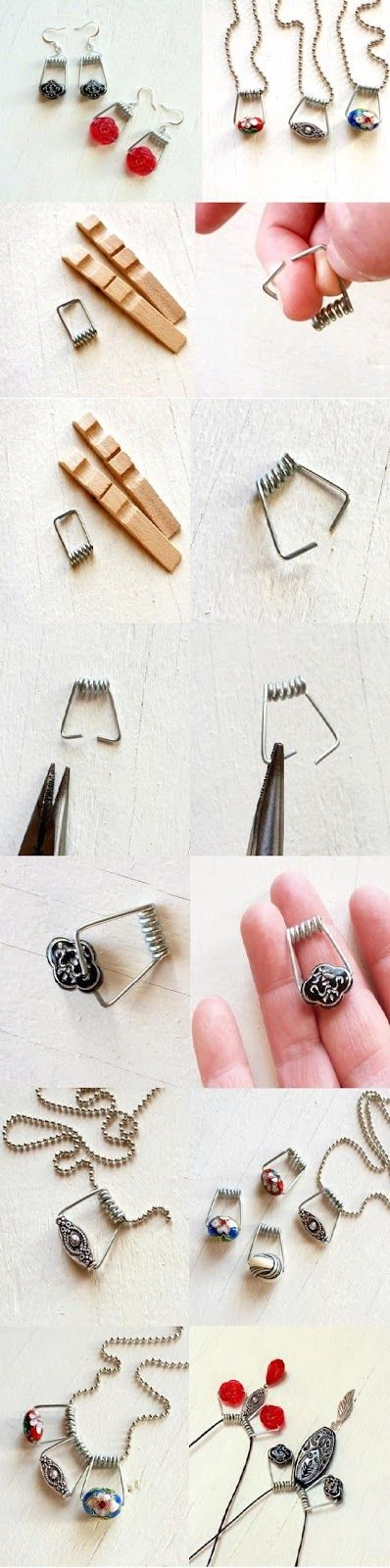 Creative Stuff: DIY Clothespin Jewelry This is pretty smart! I love this idea!