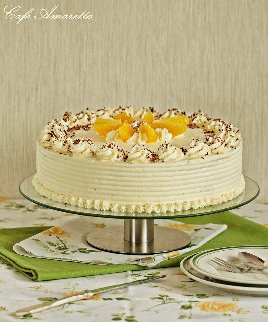 Wielowarstwowy tort pomarańczowy @cafeamaretto