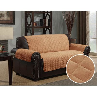 Exceptional LaCozee Quilted Microfiber Sofa Slipcover U0026 Reviews | Wayfair