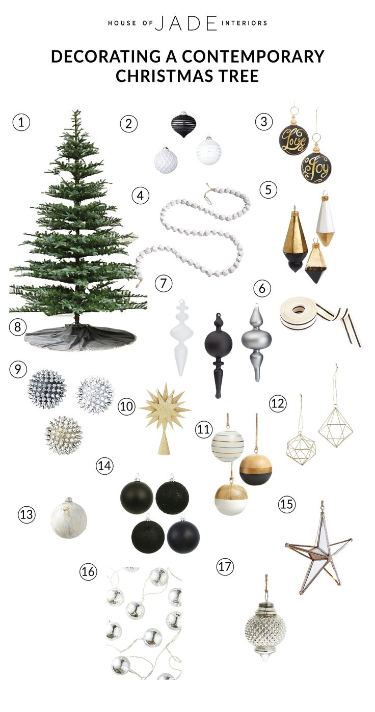 HOW TO STYLE A CHRISTMAS TREE - Contemporary Christmas Tree