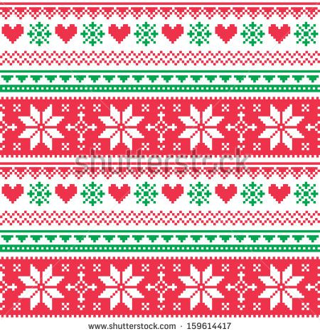stock-vector-nordic-seamless-knitted-christmas-red-and-green-pattern-159614417.jpg (450×470)