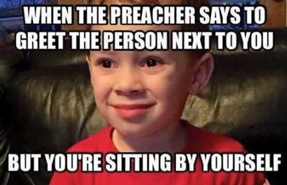 awkward-church-greetings #memes #christian